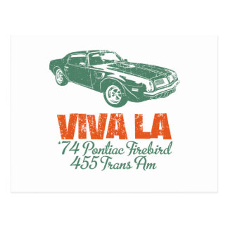 1974 Pontiac Firebird 455 Trans Am Postcard