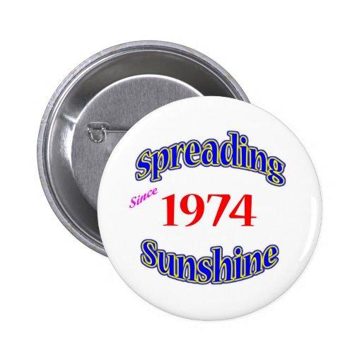 1974 Spreading Sunshine Button