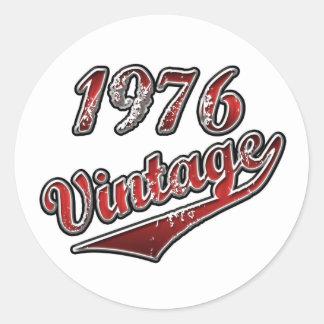 1976 Vintage Round Sticker