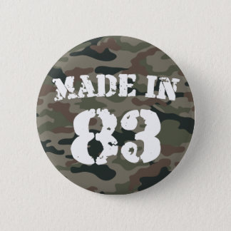 1983 Made In 83 6 Cm Round Badge