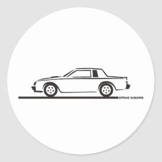 1987 Buick Grand National Classic Round Sticker