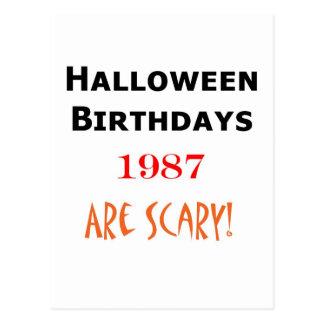 1987 halloween birthday post cards