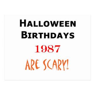 1987 halloween birthday postcards