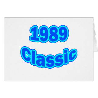 1989 Classic Blue Greeting Card