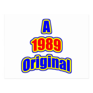 1989 Original Bl Red Post Cards