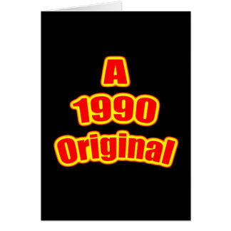 1990 Original Red Blk Greeting Cards