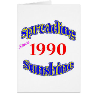 1990 Spreading Sunshine Greeting Card