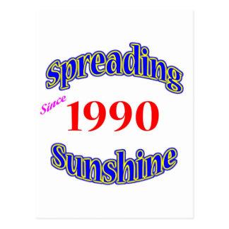1990 Spreading Sunshine Post Card