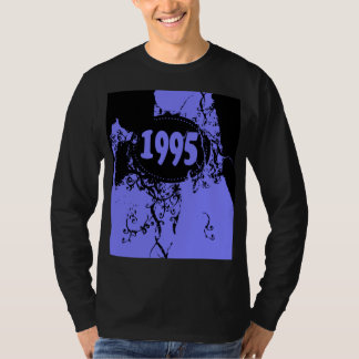 1995 - Black, Purple Vintage retro - T-Shirt