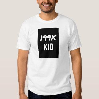 199X Ninety's Generation X Illustration Design Shirt
