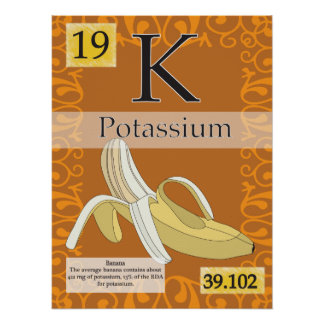 19. Potassium (K) Periodic Table of the Elements Poster
