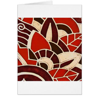 #1 1928 Deco glass panel from the Oviatt Building Card