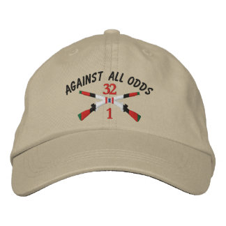 1-32nd Infantry Afghanistan Crossed Rifles Embroidered Hat