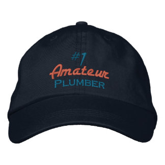 #1 Amateur Plumber Embroidered Hats
