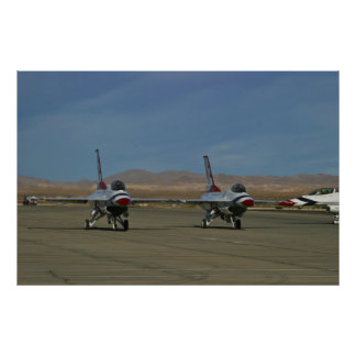 #1 and #2 USAF Thunderbird Taxis 2010 Poster
