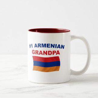 #1 Armenian Grandpa Two-Tone Coffee Mug