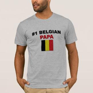 #1 Belgian Papa T-Shirt