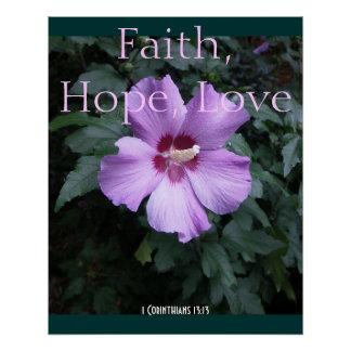 1 Corinthians 13:13 Faith Hope Love Inspirational Poster