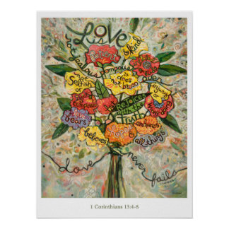 1 Corinthians 13, Love is Patient Poster