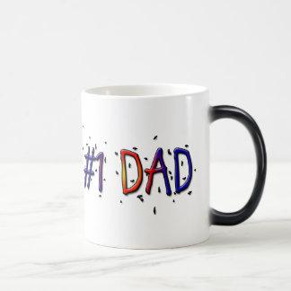 #1 Dad Father's Day Morphing Coffee Mug Morphing Mug