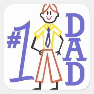 #1 Dad Square Sticker