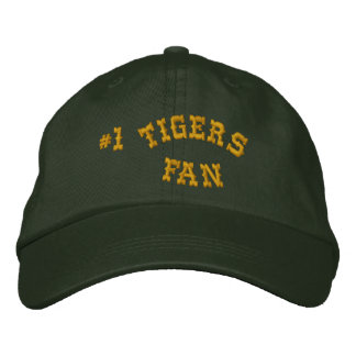 #1 Fan Green and Gold Basic Flexfit Wool Embroidered Cap