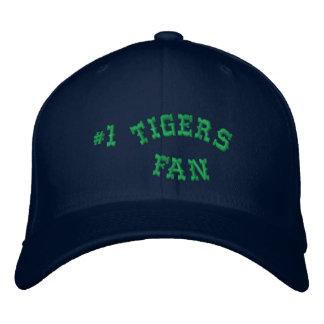 #1 Fan Navy and Green Basic Flexfit Wool Embroidered Hat