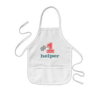 #1 helper kids apron unisex boy girl