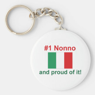 #1 Italian Nonno Basic Round Button Key Ring