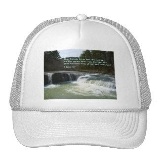 1 John 4:7  Waterfall Cap