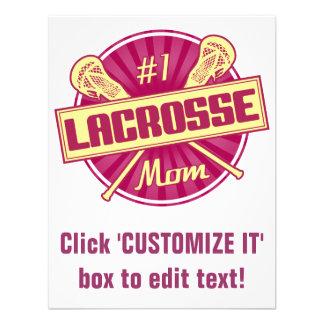 1 Lacrosse Mom Custom Announcements