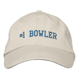 #1 Number One Bowler Embroidered Hat