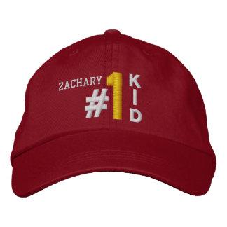 #1 Number One KID RED Hat V02 Baseball Cap