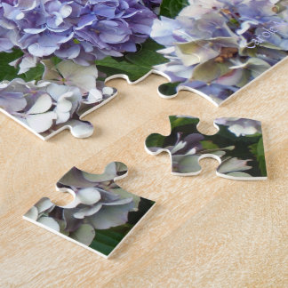 1 Purple Lavender Blue Hydrangeas Jigsaw Puzzle
