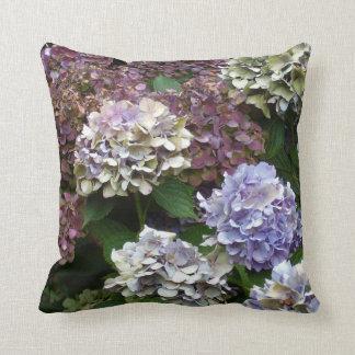1 Purple Lavender Blue Hydrangeas Throw Pillow