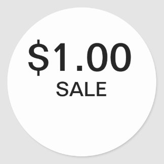 $1 Stickers   2000 for $3.45
