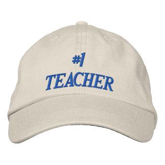 #1 TEACHER EMBROIDERED HAT