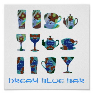 1 x 1 DREAM BLUE HOME PERSONAL BAR Posters