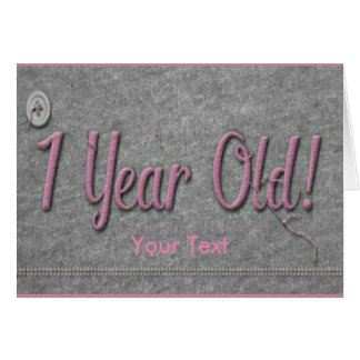 1 Year Old Card