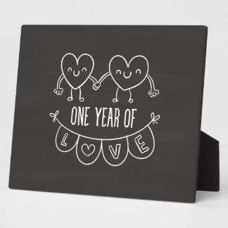 1st Anniversary Gift for Her Chalk Plaque