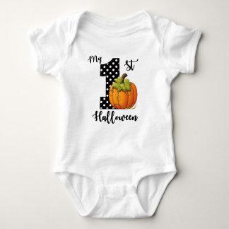 1st Birthday Girl Pumpkin Baby Bodysuit
