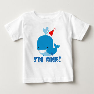1st Birthday Whale Baby T-Shirt