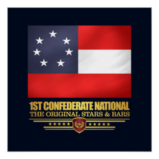 1st Confederate National Poster