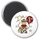 1st Cowboy Birthday 6 Cm Round Magnet