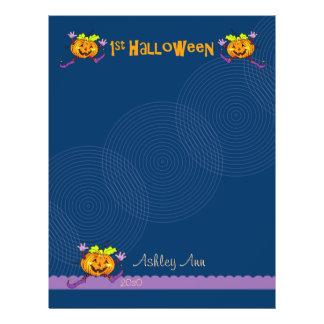 1st Halloween Pumpkin Scrapbook Paper 1 21.5 Cm X 28 Cm Flyer