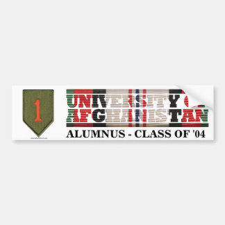 1st Infantry Division U of Afghanistan Sticker Bumper Stickers