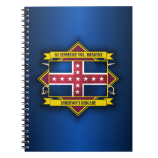 1st Tennessee Infantry Spiral Note Books