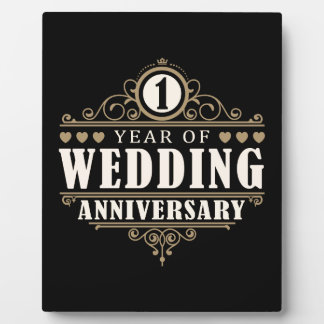 1st Wedding Anniversary Plaque