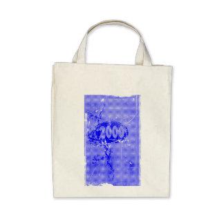 2000 - Blue vintage retro - Tote Bags