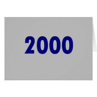 2000 CARDS